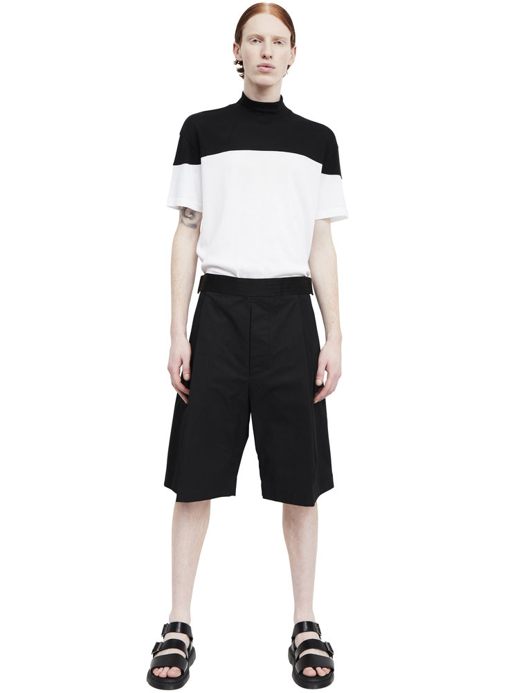 Berthold_wide+leg+single-pleat+cotton+shorts_black_ss17.62_front